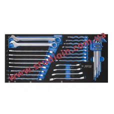 31PC.COMBINATION WRENCH SET FOR TROLLEY(EVA FOAM)..